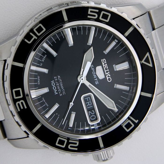 "Seiko - Automatic 23 Jewels ""50 Fathoms"" Black - ""NO RESERVE PRICE"" - Men - 2019"