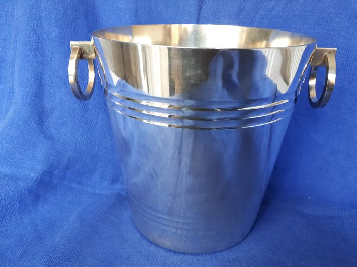 St.Médard - Champagne cooler - Art Deco - Silverplate