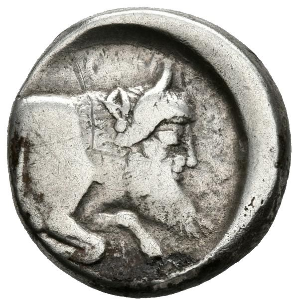 Greece (ancient) - Sicily, Gela. AR Didrachm, 490-480 BC - Silver