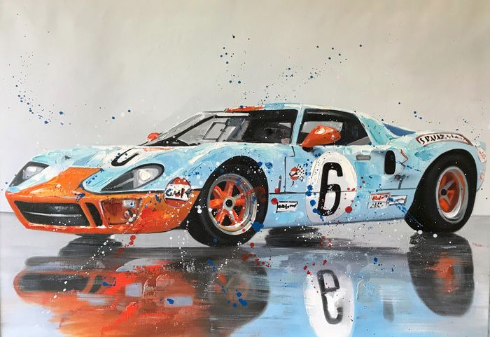 Ford GT40 Golf 24 Stunden von Le Mans 1969 (Jackie Oliver / Jacky Ickx) - Fine  artprint LIMTED EDITION  ´NO RESERVE PRICE ` - Limited edition 17 / 50 - 1960-1970