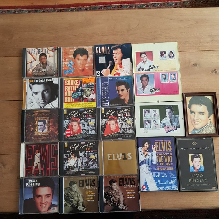 Elvis Presley & Related - Multiple titles - Artwork/ Painting, CD's, Deluxe edition, DVD Limited box set, Limited edition, Official merchandise memorabilia item, Stamped First Day Covers 1985 - 1956/2002