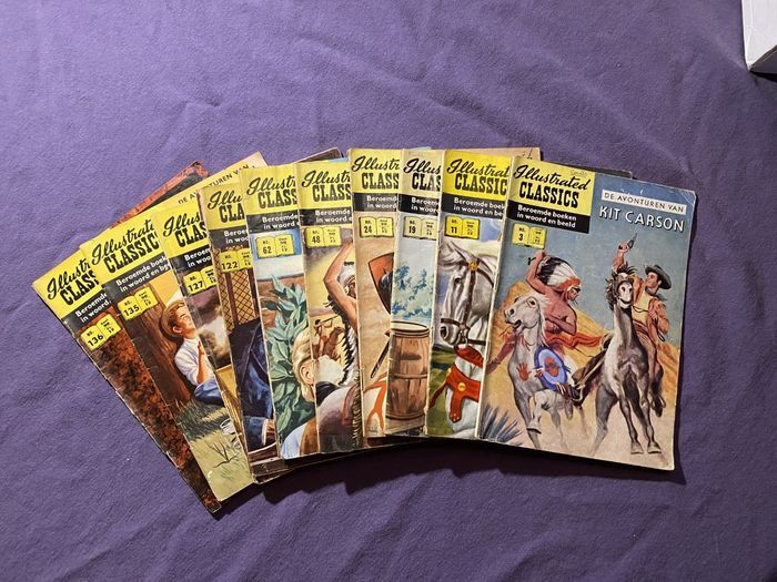 Illustrated Classics 3; 11;19; 24; 48; 62; 122; 127;135; 136; - Illustrated Classics + extra editie - zie omschrijving - Stapled - Different editions - (1956/1964)