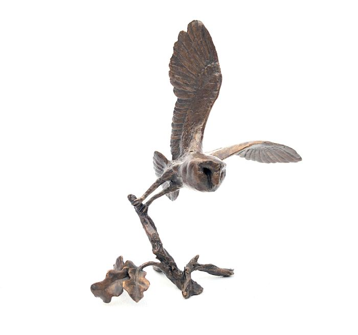 Michael Simpson - Art in Bronze - Richard Cooper & Company - Limited Edition 117/200 Solid Bronze Barn Owl Figuur
