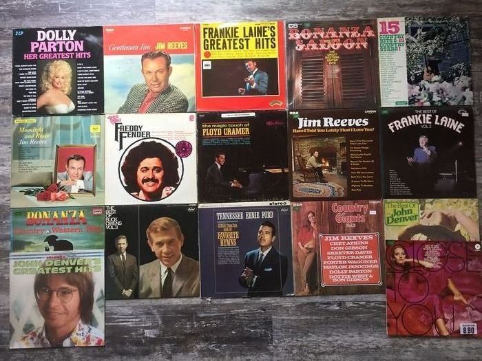 Various Artists/Bands in Country - Multiple artists - Multiple titles - LP's - 1959/1987