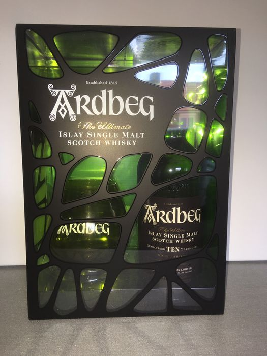 Ardbeg 10 years old camouflage gift pack - b. 2000s to today - 700ml