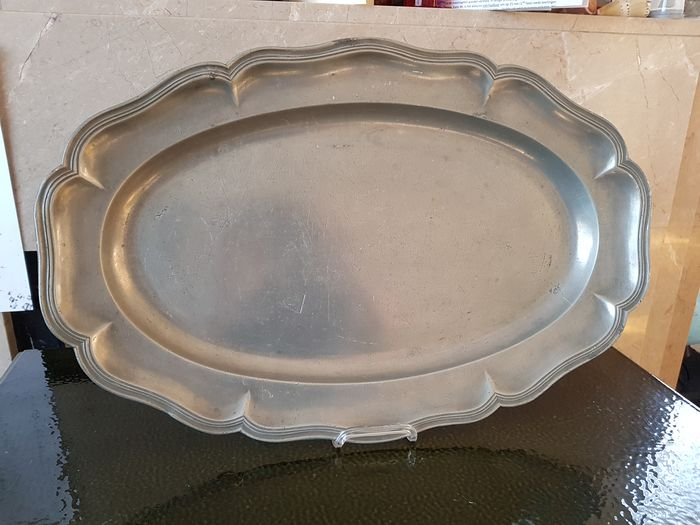 Large Dish (1) - Louis XV - Pewter/Tin - 18th century