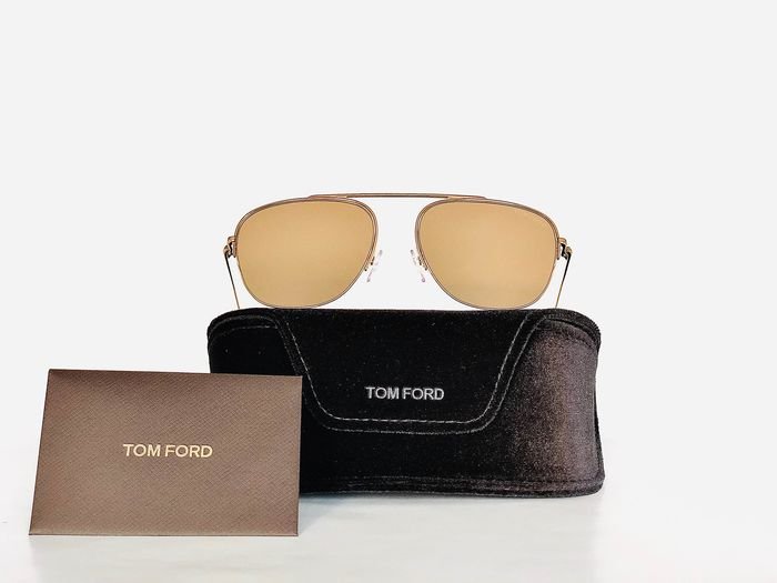 Tom Ford - FT 0667-30G, Mirrored, Cat *3, Gold Pilot, *Brand-new designer Sunglasses