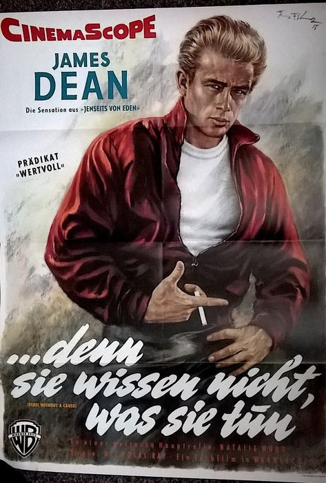 Rebel Without A Cause (1955) DIN A1 - James Dean - Poster, Original German Cinema release
