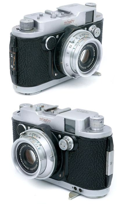 Robot Berning Royal II serial H-126503 with Schneider Xenar 45mm F2,8. Only 1000 made. Rare.