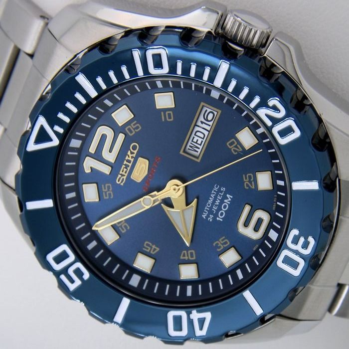 """Seiko - Automatic 24 Jewels """"Blue - Gold Tone"""" - - - Homme - 2019"""