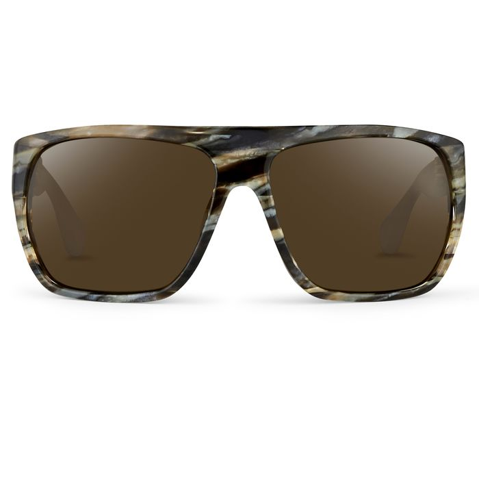 """Ann Demeulemeester - Oversized Brown Horn 925 Silver with Green Lenses CAT3 AD31C3SUN """"NO RESERVE PRICE"""" Sunglasses"""