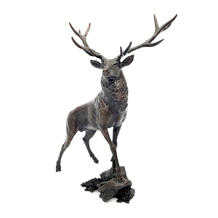 Michael Simpson - Richard Cooper & Company - Art in Bronze - Limited Edition Bronze 111/150 Highland Stag-figuur