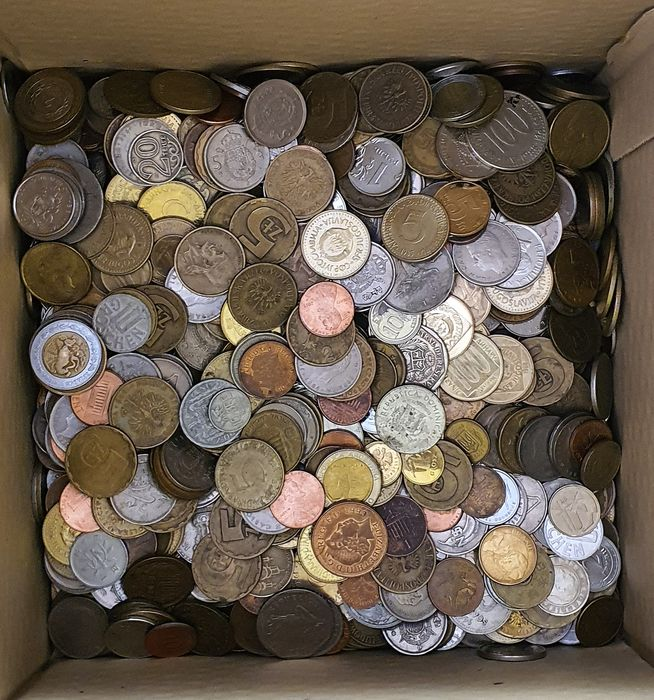 Wereld - Lot of 5 kg of Coins