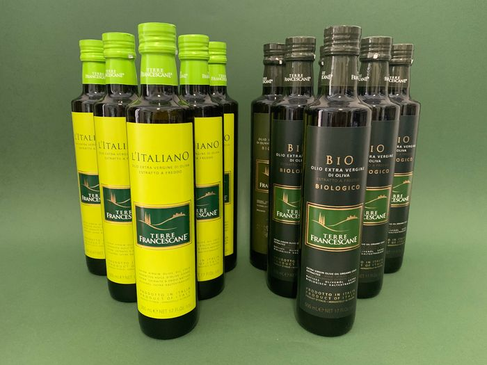 "6x ""L'Italiano"", 6x Biologcio"" Terre Francescane - Extra virgin olive oil - 12 - 500 ml"