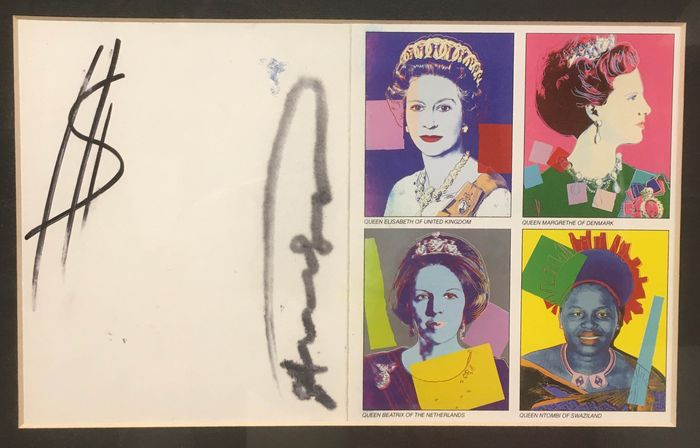 Andy Warhol  - Reigning Queens 1985 - Announcement Card