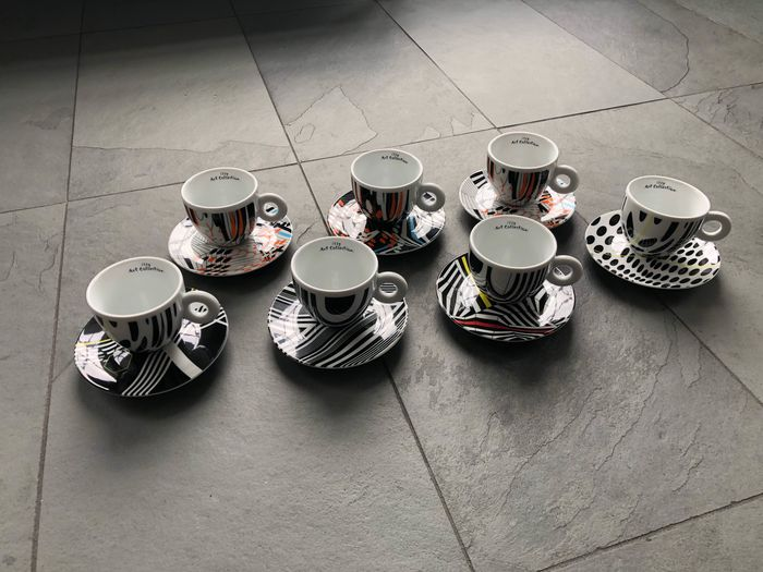 Tobias Rehberger for Illy - Rosenthal - cups and saucers (7) - Porselein