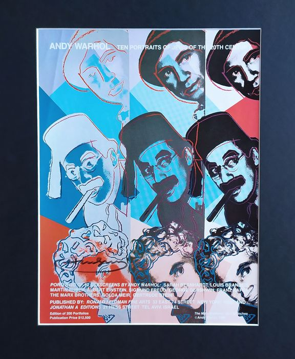 Andy Warhol (after)  - The Marx Brothers - attributed signature - Press advertisement - 1980