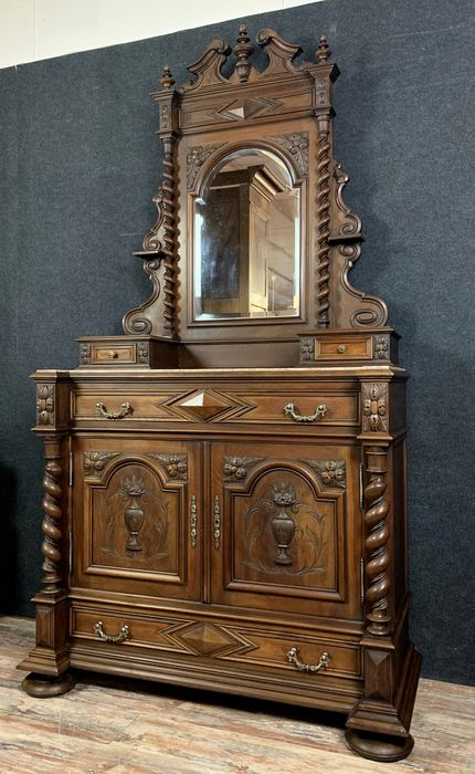 Psyche chest of drawers - Renaissance style hunting lodge - Walnut - Second half 19th century