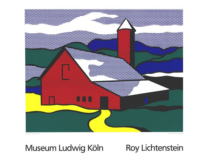 Museum Ludwig, Köln - after Roy Lichtenstein - Red Barn II