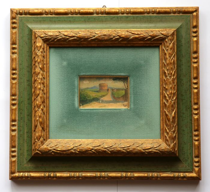 Framed painting - oil on canvas - Canvas and frame - beginning of 1900