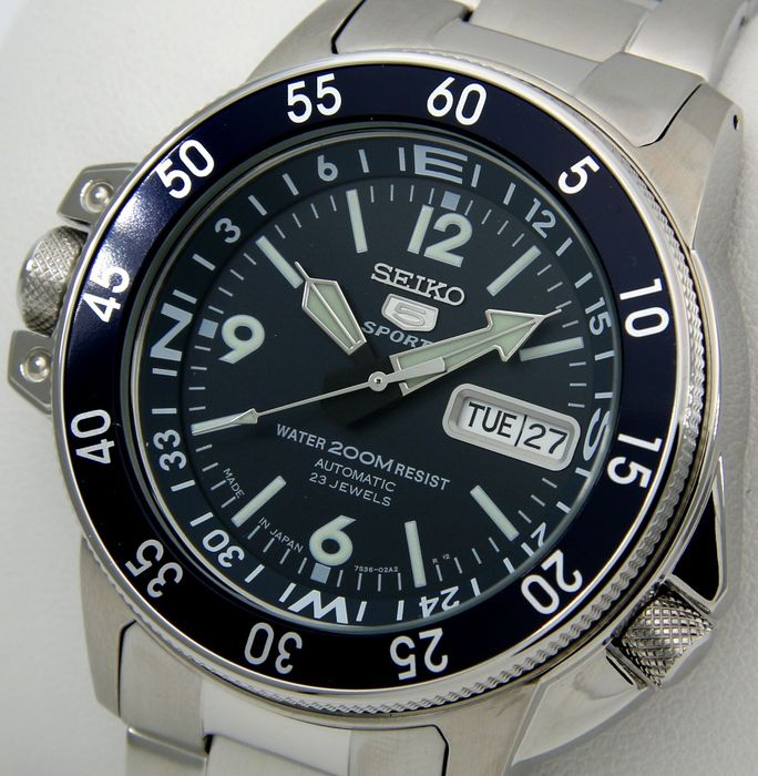 "Seiko - Atlas Automatic 23 Jewels ""Blue Dial"" - Made in Japan -  NO RESERVE PRICE - - Men - 2011-present"