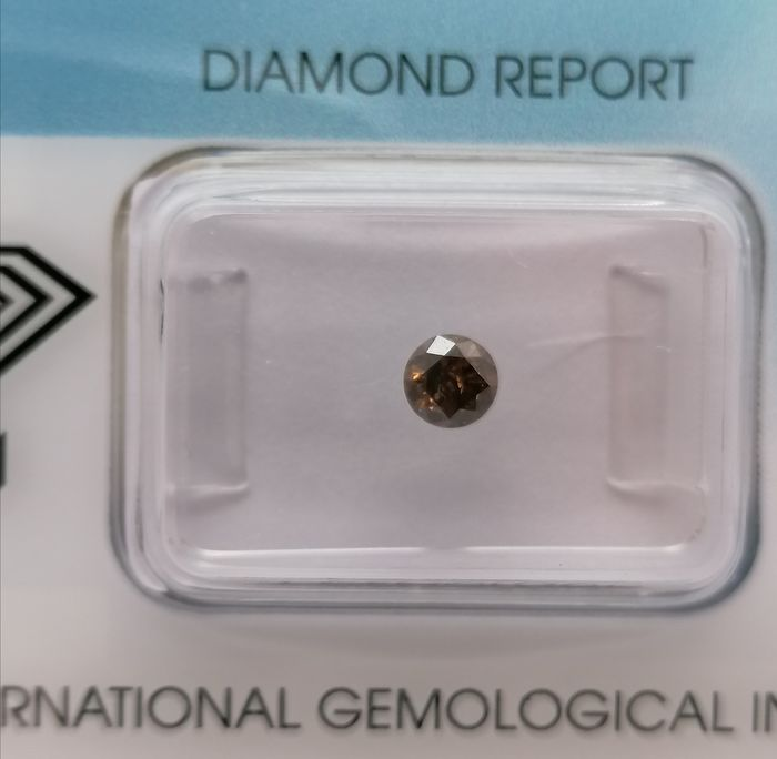 1 pcs Diamond - 0.27 ct - Brilliant - Natural Fancy Deep Brown - ***no reserved price***i1