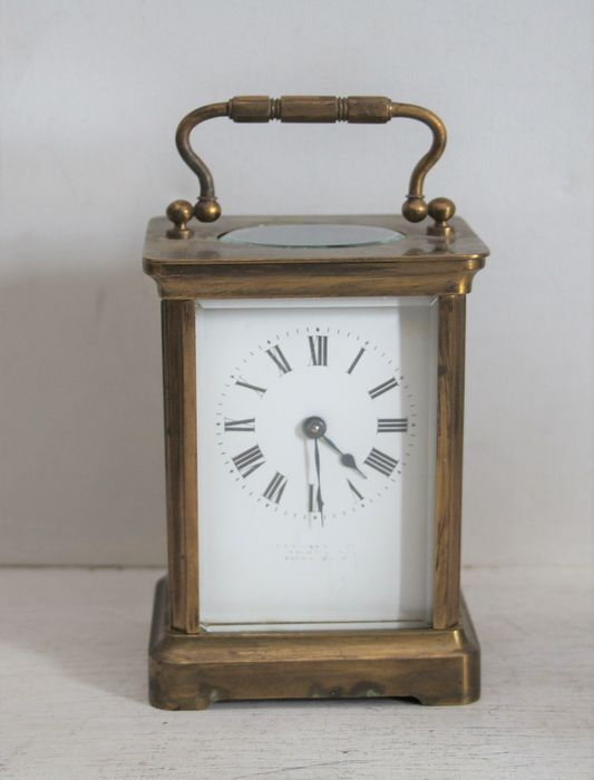 small carriage / carriage clock - Brass - Late 19th century