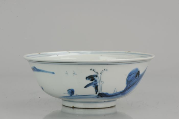 Cuenco - Porcelana -  Wanli Ming Period Landscape Bowl - China - 16/17 c