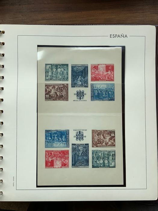 Spanien 1934/1941 - Great charity collection in album