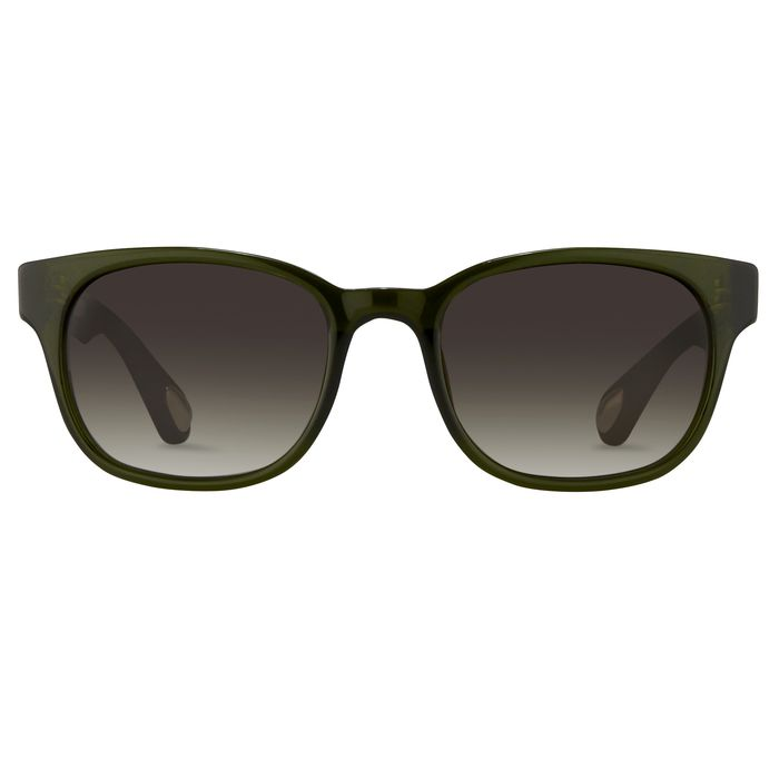 "Ann Demeulemeester - Rectangular Green 925 Silver with Green Graduated Lenses Category 3 AD15C11SUN ""NO RESERVE PRICE"" Sunglasses"