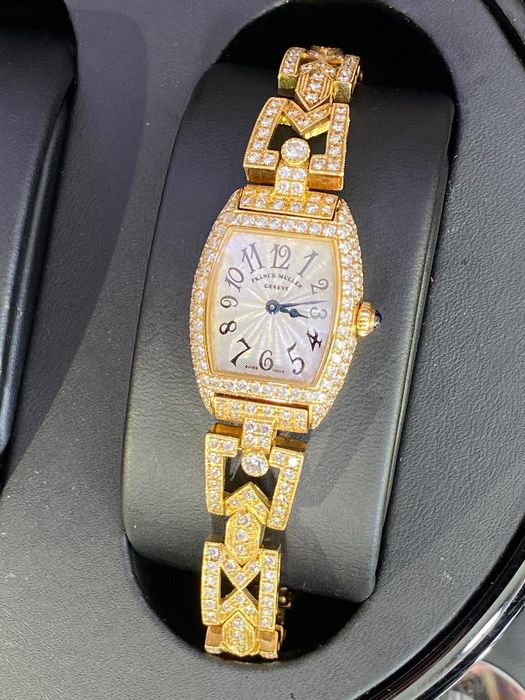 Franck Muller - Cintrée Curvex with 4.81 ct diamonds - 2500 QZ D - Women - 2000-2010