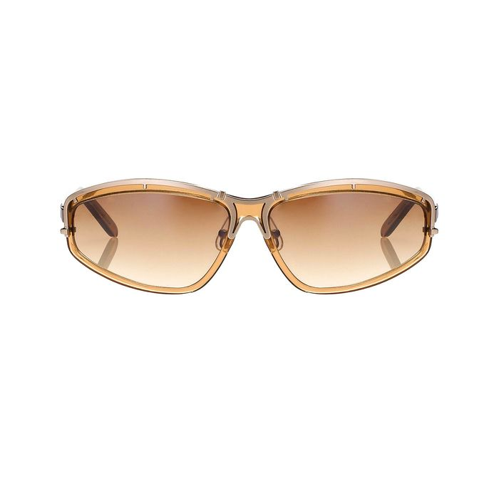 "Yohji Yamamoto - Rectangular Tobacco Brown and Brown Graduated Lenses - 9YY900C3TOBACCO""NO RESERVE PRICE"" Sunglasses"