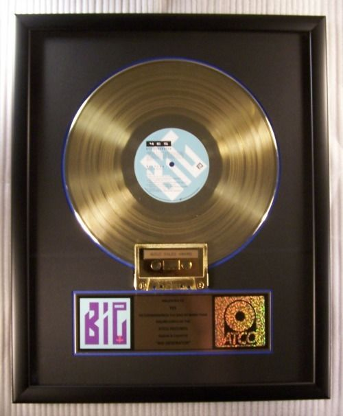 """Yes - """"Big Generator"""" LP, Cassette Gold Record Award Presented To Yes - Official In-House award - 1989/1989"""