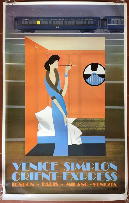 Pierre Fix-Masseau - Venice Simplon Orient-Express : The Woman - 1981