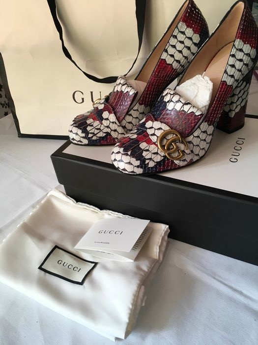 Gucci - décolleté marmont in pitone  Pumps - Size: IT 38.5