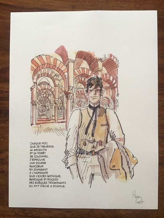 "Corto Maltese - ""Cordoba 4"" - Loose page - First edition - (1989)"