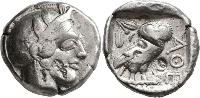 Greece (ancient) - Ática, Atenas. Tetradracma, 454-404 a.C. - Silver