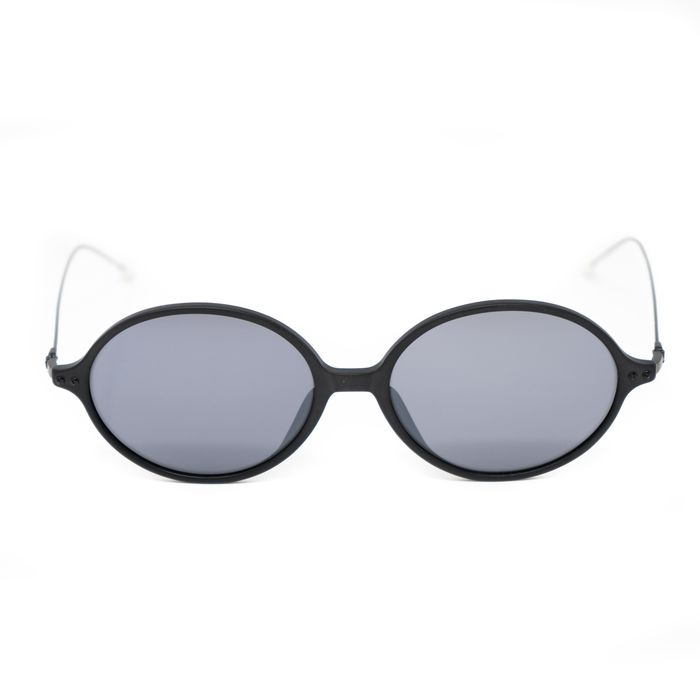 """Ann Demeulemeester - Oval Matte Black 925 Silver Titanium with Grey Lenses Category 3 AD64C4SUN """"NO RESERVE PRICE"""" Sunglasses"""