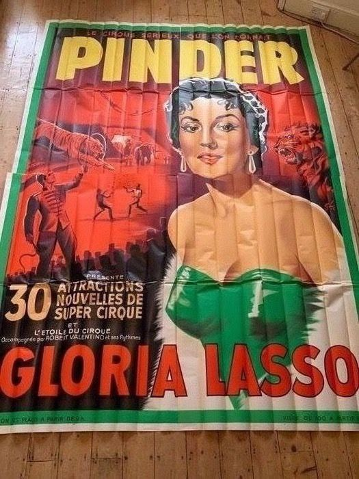 unkown - Cirque Pinder with GLORIA LASSO Pinder Circus - 1958 - Années 1950