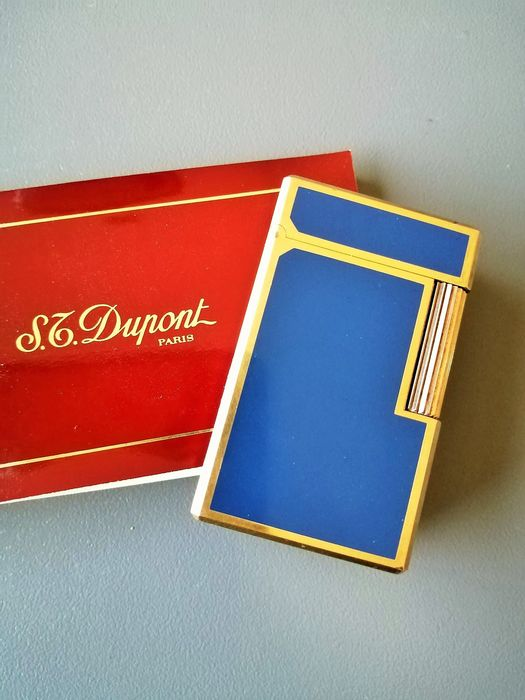 S.T. Dupont - Lighter - blue china lacquer of 1