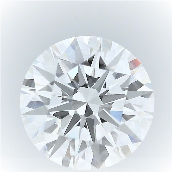 1 pcs Diamond - 1.07 ct - Round - F - VS2