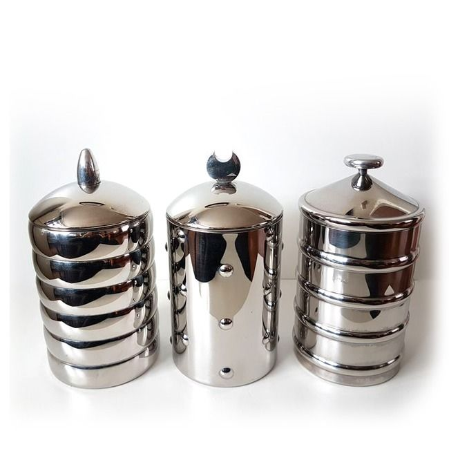 CSA, Clare Brass - Alessi - Storage containers Kalisto Collection 1/2/3