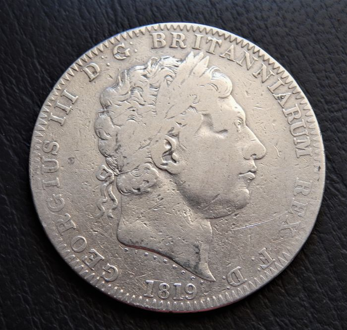 Great Britain - One Crown, George III,  1819 - ANNO REGNI LIX - Silver