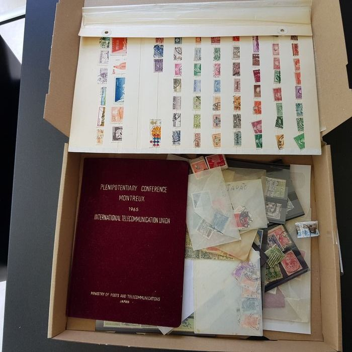 World 1850/2008 - Asian countries on pages, cards and booklet