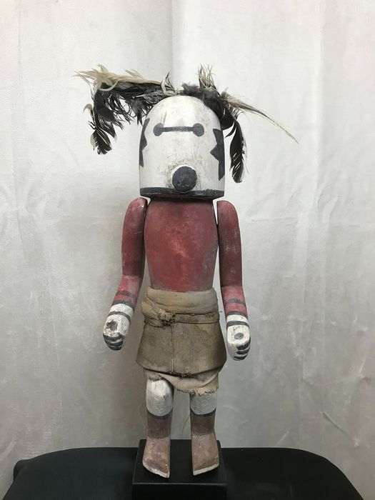 Kachina doll - Wood, pigments, cotton and feathers - Sipikine - in Hopi style