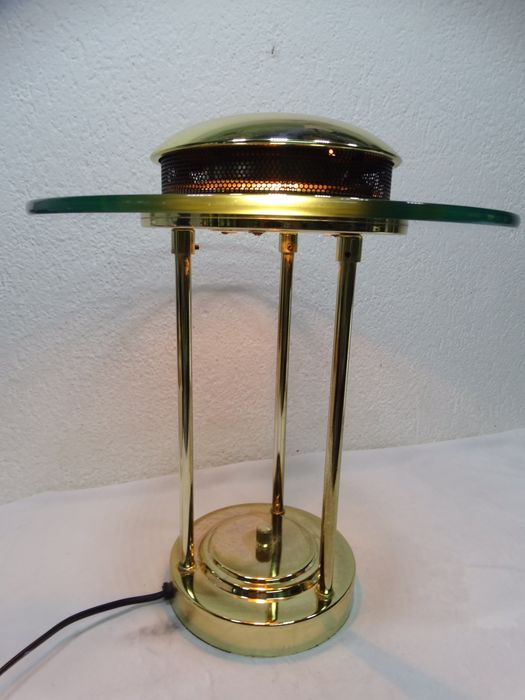 SMC - Table lamp with gold-colored metal shade