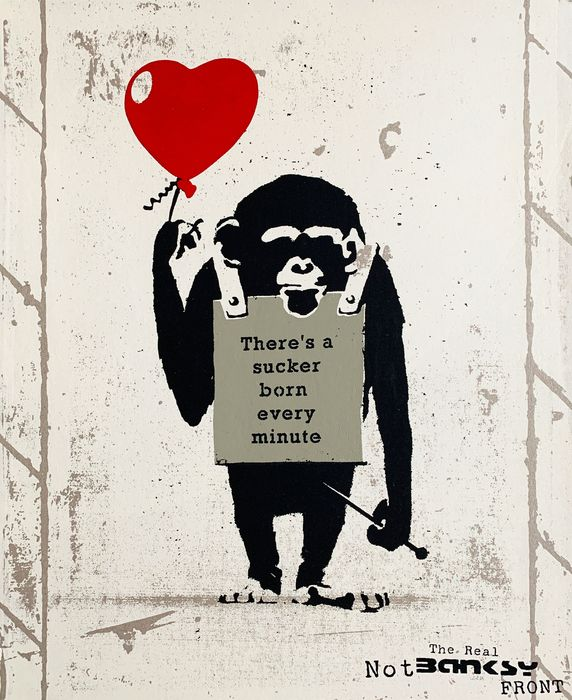 The Real Not Banksy Front / STOT21stcplanB - True Love Fake Art Suckers!