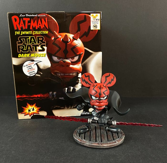 """Rat-Man - The infinity collection n.4 - Statuetta in resina - """"Star Rats"""" - First edition"""