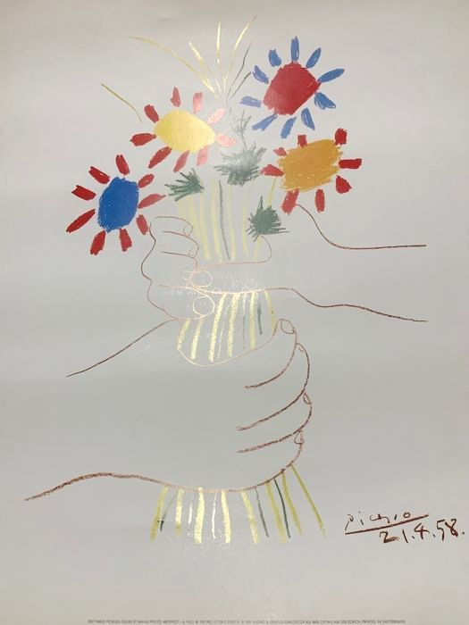 Pablo Picasso - (after) = Le Bouquet - 1991