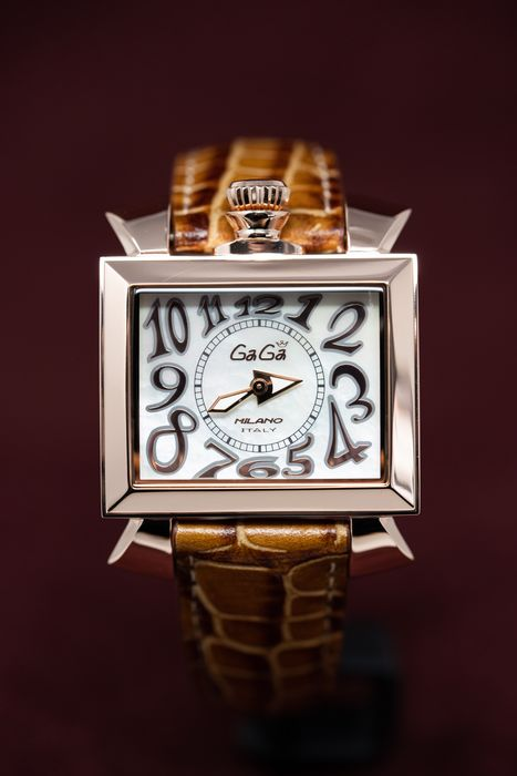 GaGà Milano - Watch Napoleone Brown Mother of Pearl 40MM Rose Gold Plated Swiss Made - 603102 - Unisex - Brand New